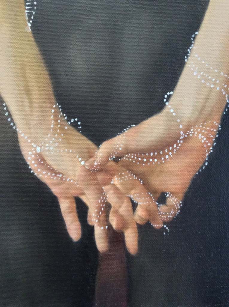 ariverunsthroughher, detail, hands